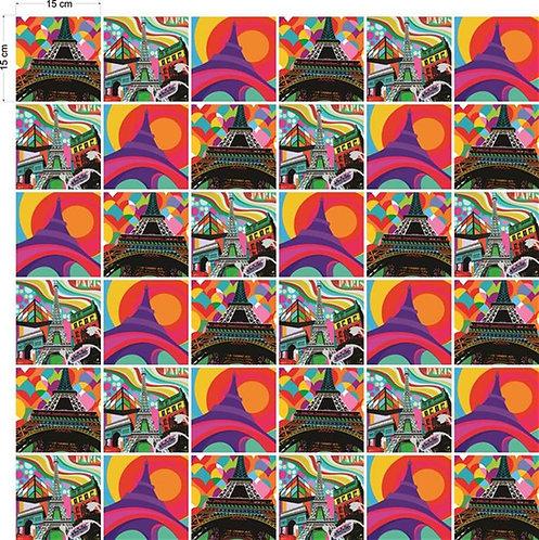 Adesivos Para Azulejo - Torre Eiffel