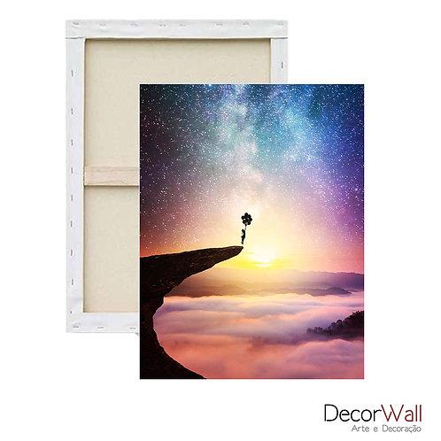 Quadro Decorativo Canvas Collage Paissagem Abstrato