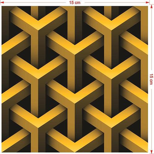 Adesivos Para Azulejo - Amarelo 3D