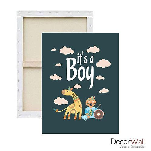 Quadro Decorativo Canvas  it's a boy Infantil