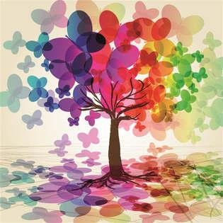 Artes visuais 010-Arvore de borboletas coloridas.jpg