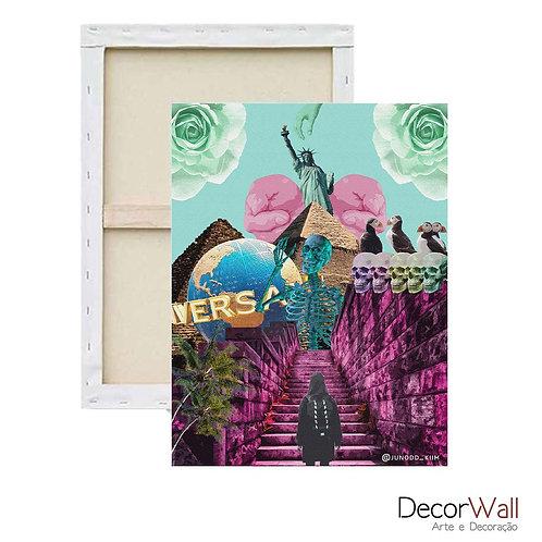 Quadro Decorativo Canvas Collage Universal