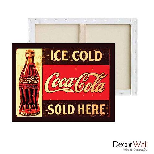 Quadro Decorativo Canvas Coca Cola Retro