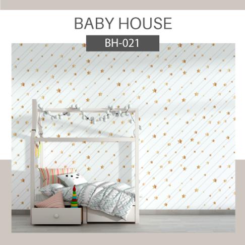 Papel de Parede Infantil Estrelas Dourada