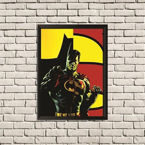 Quadro Batman x Super Homem - QD041