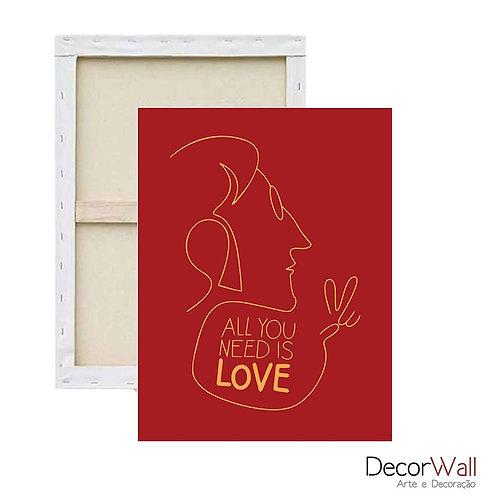 Quadro Decorativo Canvas Frases The Beatles Artistico