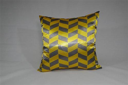 Almofada em Cetim 45cm x 45cm Geométrico Amarelo