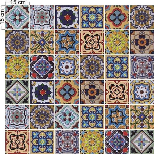 Adesivos Para Azulejo - Português Colorido