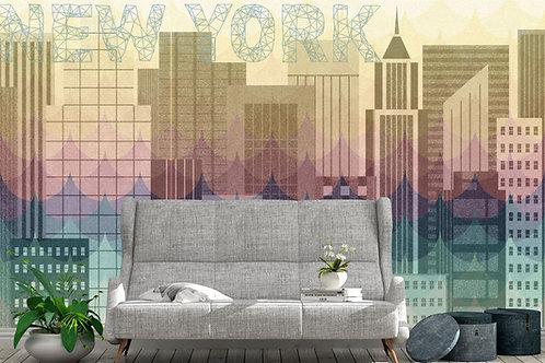 Foto Mural Artistico Cidade NY Moderno