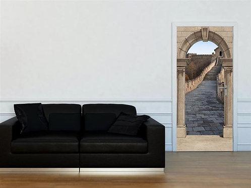 Adesivo para Porta - Portal para Muralha da China