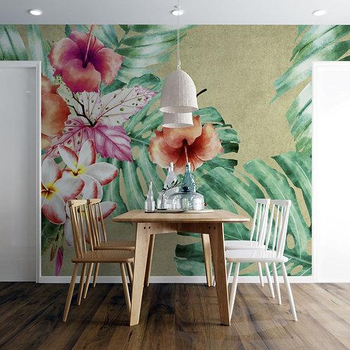 Foto Mural Artistico Flores Tropicais