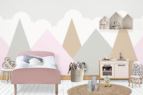 Foto Mural Artístico Montanhas Infantil