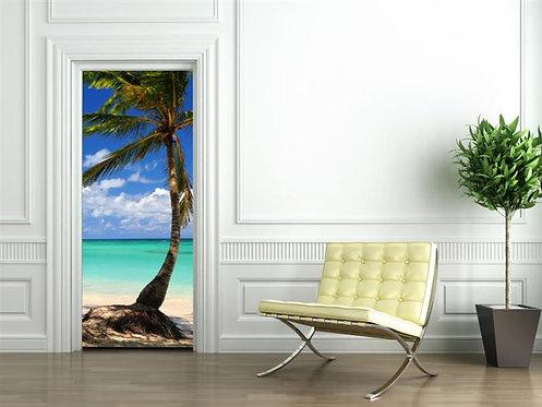 Adesivo para Porta - Praia Tropical