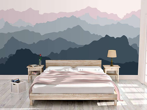 Foto Mural Artístico Horizonte de Montanhas