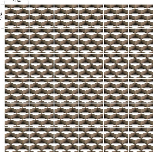 Adesivos Para Azulejo - Geométrico 3D