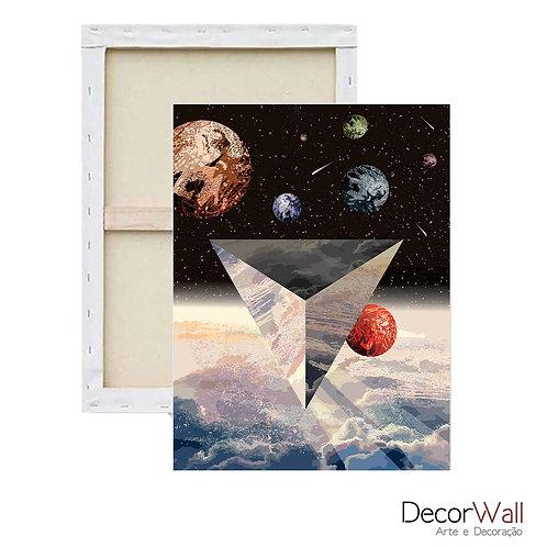 Quadro Decorativo Canvas  Minimals Espaço Abstratos Artistico