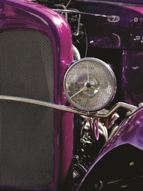 Quadro Farol Carro Antigo - QD019