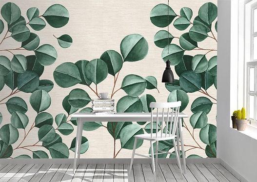 Foto Mural Artístico Galhos com Folhas