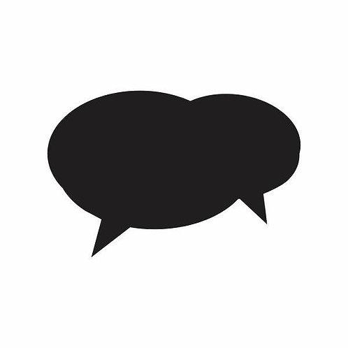 Adesivo Lousa Preto Balão de Mensagem