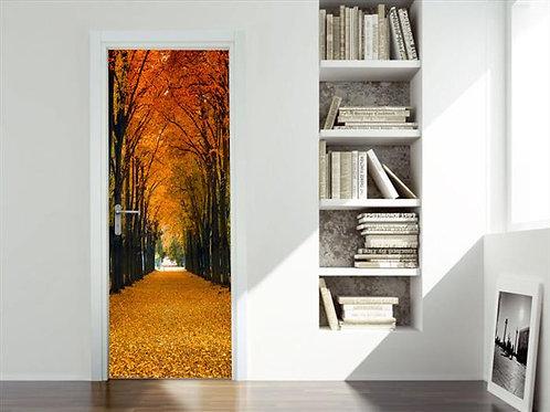 Adesivo para Porta - Outono Floresta