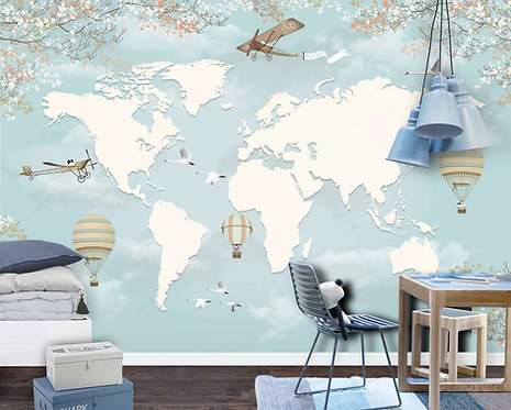 Foto Mural Artístico Mapa Infantil