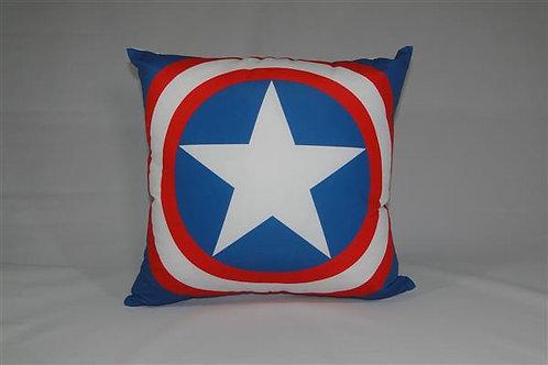 Almofada em Oxford 45cm x 45cm Capitão América