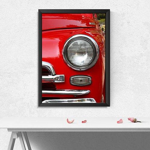 Quadro Farol Carro Vintage - QD010