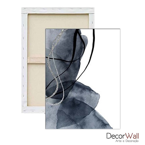 Quadro Decorativo Canvas Elementos Geometrico Abstrato