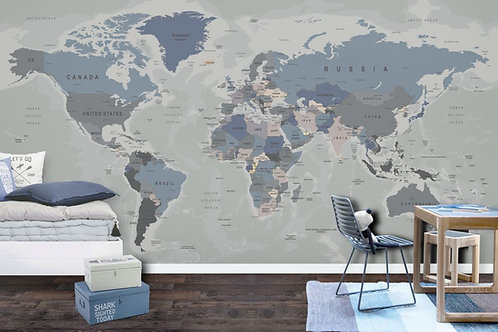 Foto Mural Artistico Mapa Infantil Menino