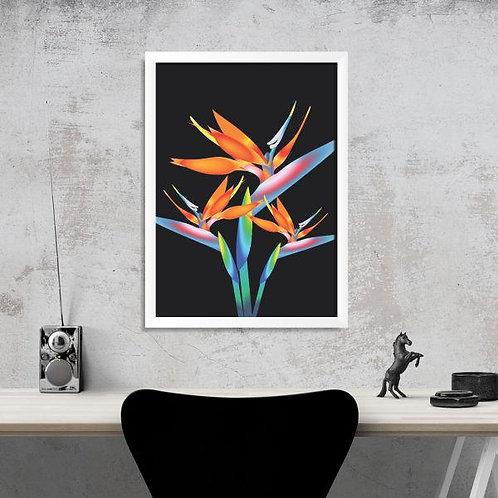 Quadro Floral Abstrato - QD004