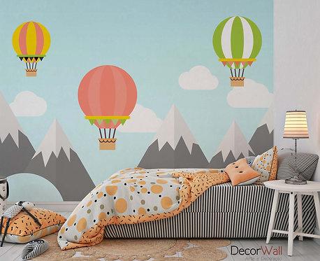 Foto Mural Artístico Infantil com Balões