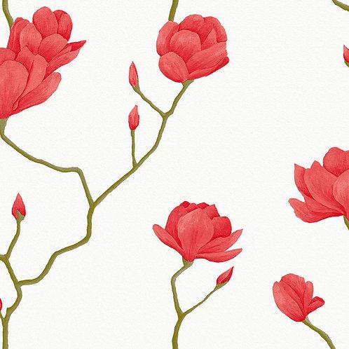 Papel de Parede Floral Vinílico com Textura - Natural1449