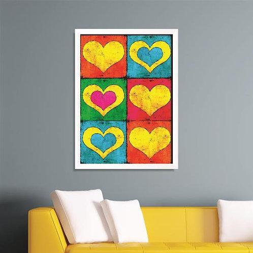 Quadro Coração Pop Art - QD027