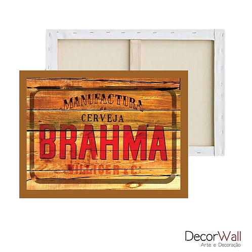 Quadro Decorativo Canvas  Brahma Vintage Artistico