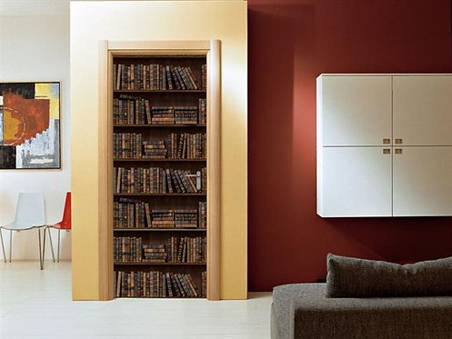Adesivo para Porta - Estante de Livros