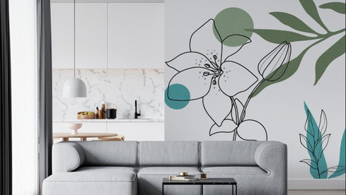 Novas estampas com tema Floral Abstrato