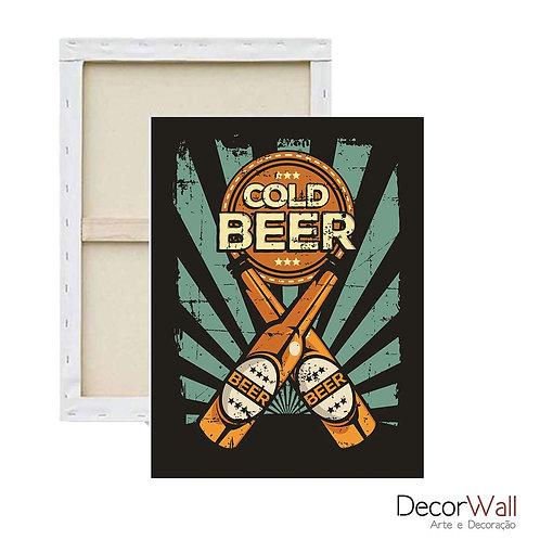 Quadro Tela  Gold beer Cerveja