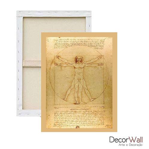 Quadro Decorativo Canvas Homem Vitruviano Leonardo da Vinci