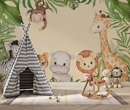Foto Mural Artístico Infantil Safari