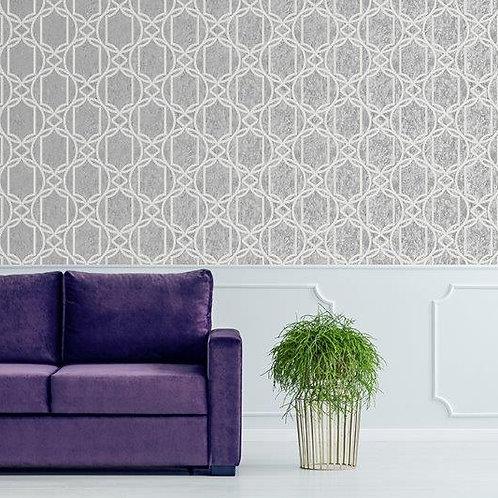 Papel de Parede Importado Vinílico com Textura Abstrato Cinza