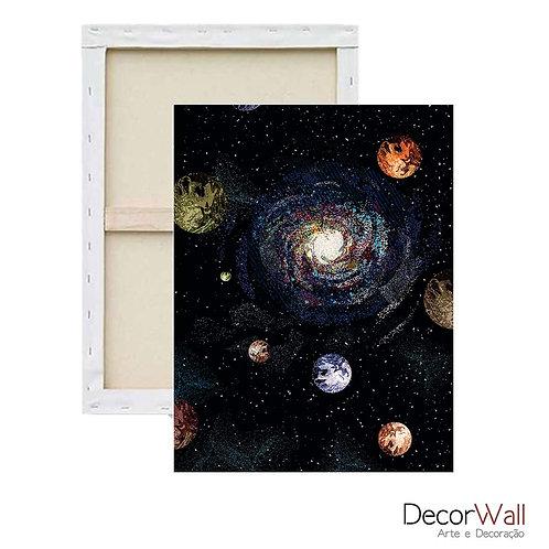 Quadro Decorativo Canvas Minimals Espaço Abstratos Planetas Artistico