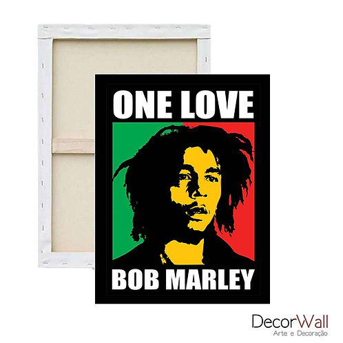 Quadro Decorativo Canvas Bob Marley artistico