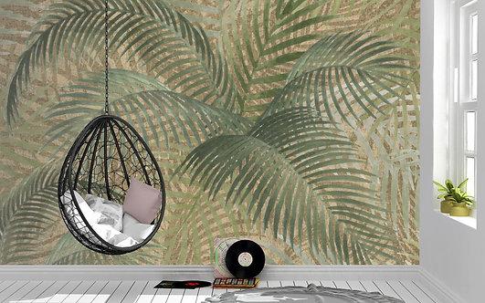 Foto Mural Artistico Folhas de Palmeiras