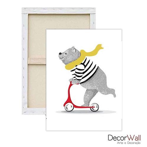 Quadro Decorativo Canvas Imagens Divertidas Urso