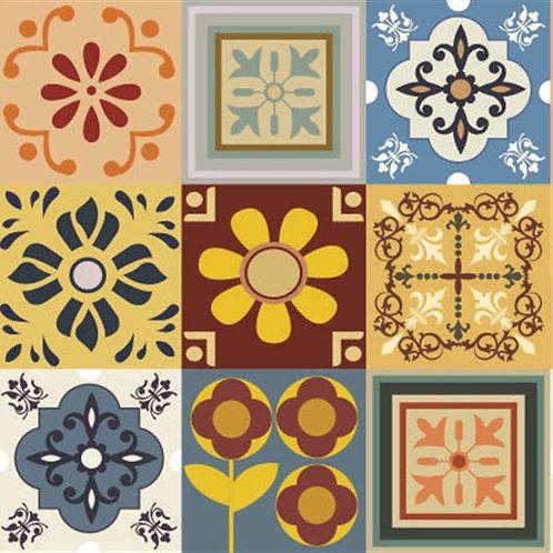 Adesivo de Parede Azulejo Português