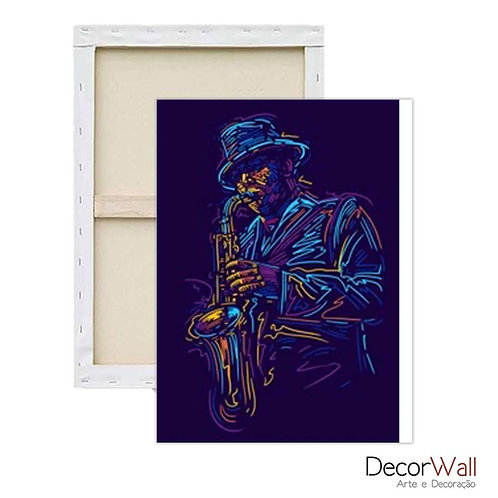 Quadro Decorativo Canvas Musica Jazz