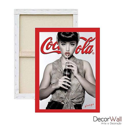 Quadro Decorativo Canvas Coca Cola Pin Up