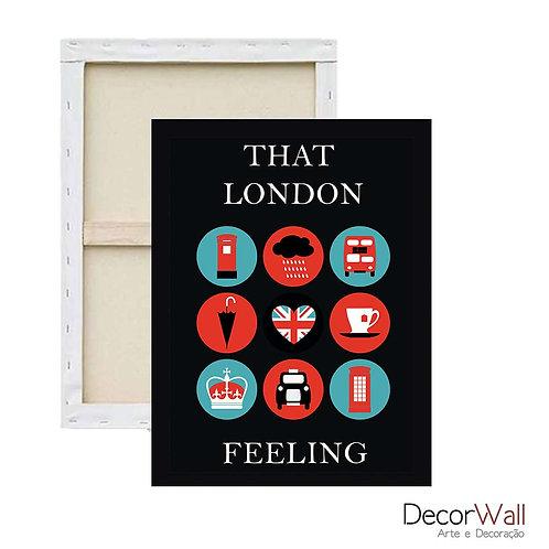 Quadro Decorativo Canvas That London Icones