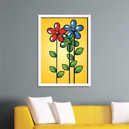 Quadro Ilustração de Flores - QD009