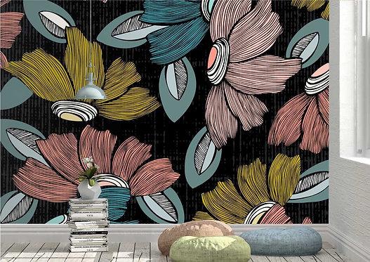 Foto Mural Artístico Arte de Flores